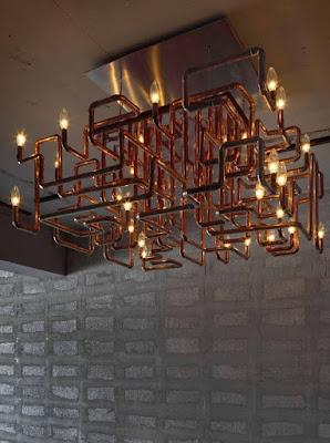 lámpara tuberías