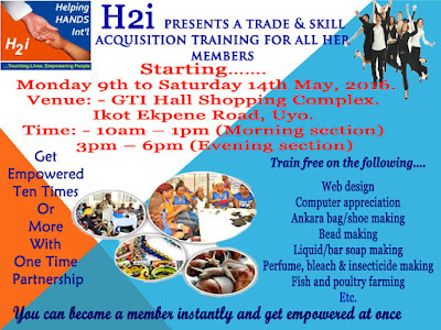 FREE Training and Skills Acquisition in Ikot Ekpenen, Akwa Ibom state - Helping Hands International