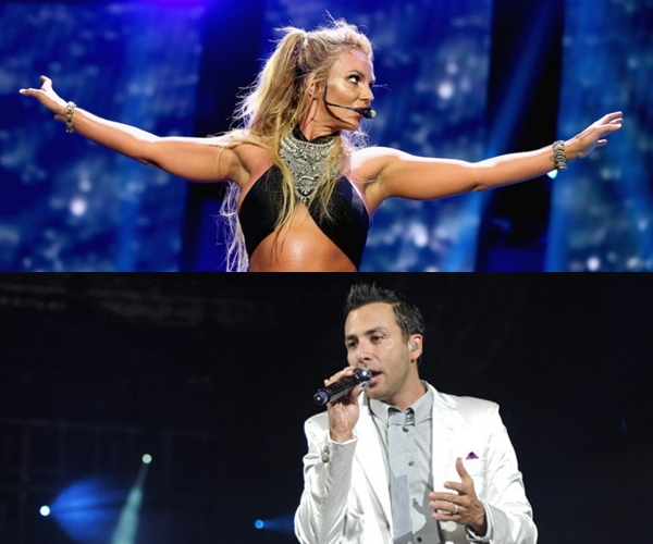 Britney Spears le bailó a un Backstreet Boy en uno de sus conciertos