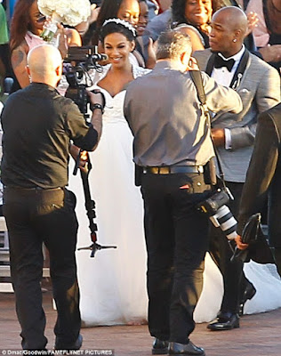 image neyo wedding to Crystal Renay