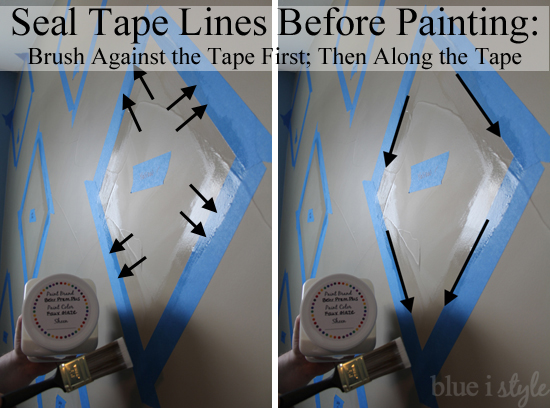 Seal tape lines before painting