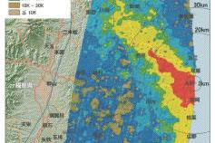 福島第1原発事故 放射性ヨウ素131の地表への沈着量の分布図を公開