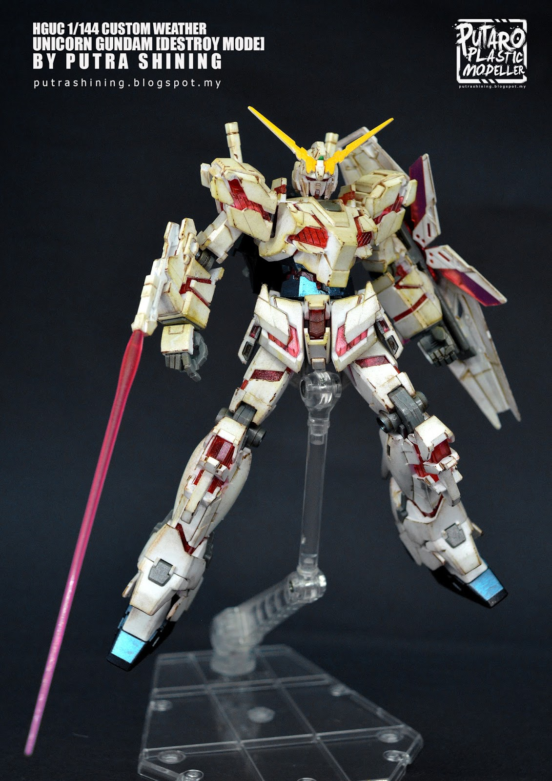 1/144 HGUC RX-0 UNICORN GUNDAM [DESTROY MODE] by Putra Shining