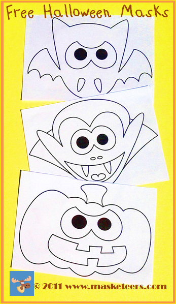 Printable Halloween Masks for Kindergarten