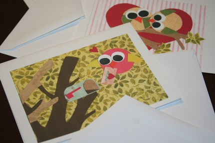 DIY Tutorial How to Make Handmade Art Collage Note Cards - Soap