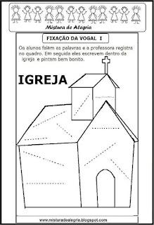 Treino ortográfico letra I de igreja