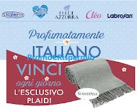 Logo Felce Azzurra, Saponello, Mon Amour,Cléo, Labrosan: vinci 90 Plaid Somma e non solo