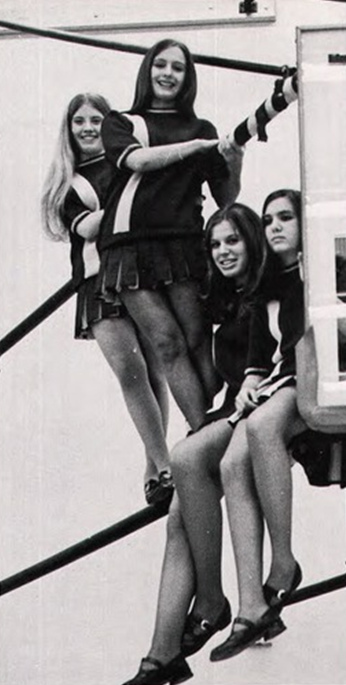 bampw photographs of cheerleaders in 1960s 70s vintage
