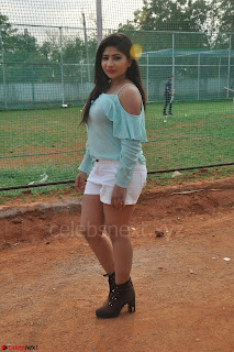 Madhulagna Das looks super cute in White Shorts and Transparent Top 47.JPG
