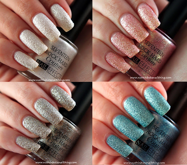 Seventeen Rock Hard Couture Nail Effects: Swatches
