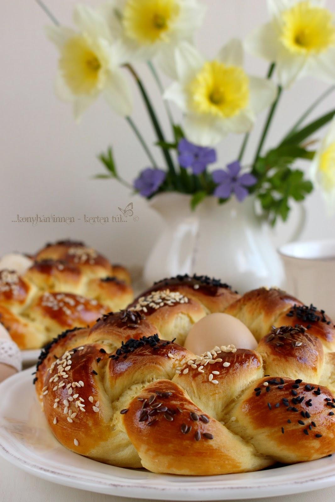 Húsvéti kalácskoszorú