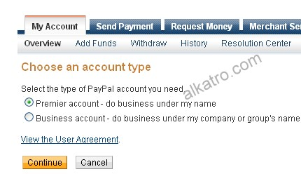 upgrade paypal account