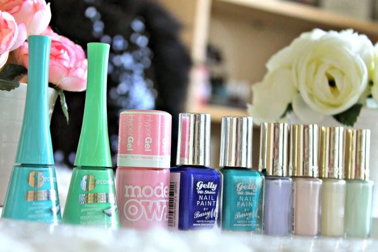Spring Pastel Nail Polishes