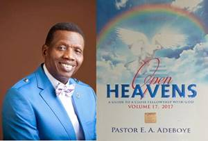 Open Heavens 16 July 2017: Sunday daily devotional by Pastor Adeboye – Legs on Vacation?