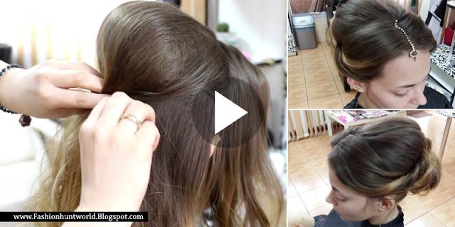 Pakistani Bridal Hair Style Tutorial Step By Step
