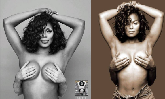 Transgender actress Laverne Cox recreates Janet Jackson's iconic topless shoot