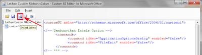 Insert icons Custom UI Editor