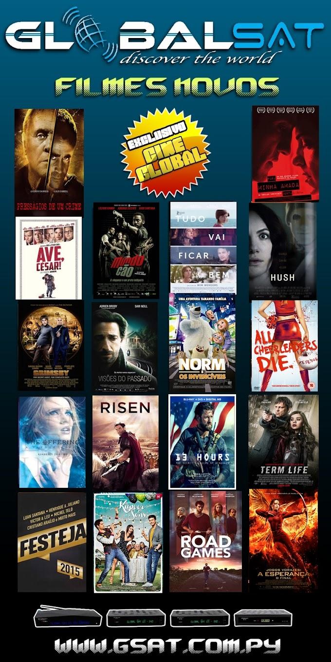 Globalsat 'Cineglobal' Novos Filmes Adicionados em 'Lançamentos' 29/05/2016