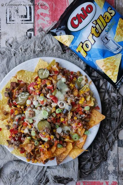 Überbackene Chio Tortillas mit Hackfleisch | Werbung | Rezept | Partyfood