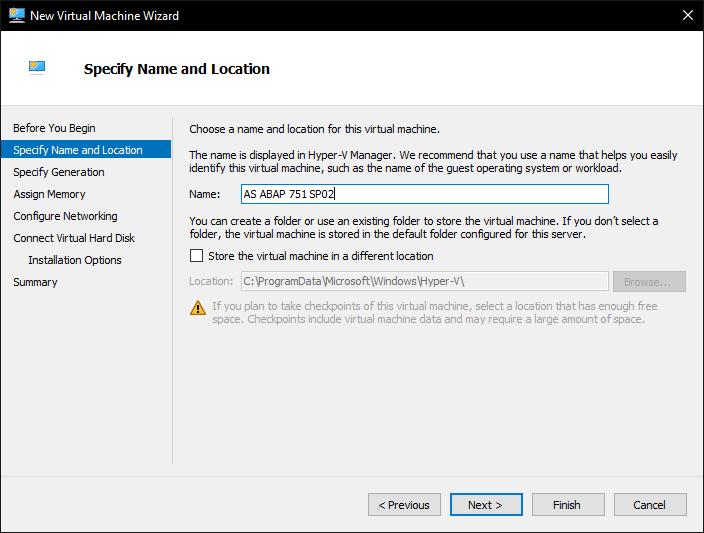 Sap Abap Central Installing As Abap Developer Edition With Hyper V