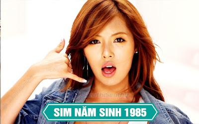 Sim năm sinh 1985
