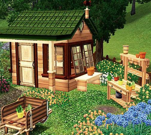 Futuristic Victorian Front Gardens 9 On Garden Design: My Sims 3 Blog: Cashcraft's Victorian Garden Shed