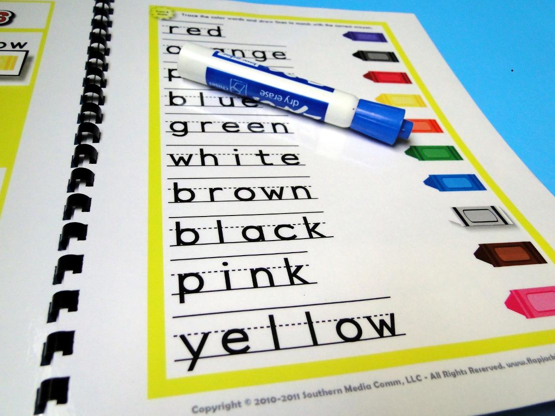 Crayon Color Words Magnetmat Freebie