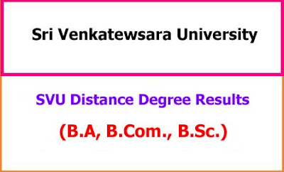 SVU Distance Degree Results 2021