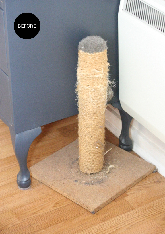 Images for homemade cat scratching post for Homemade cat post
