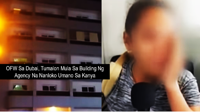 Be careful in doing transactions with recruitment agencies if you are applying for jobs abroad. Make sure that you are dealing only with legitimate recruitment agencies with a valid license from the Philippine Overseas Employment Administration to prevent yourself from being a victim of bogus recruitment agencies which will put you into serious trouble.       Ads  An OFW jumped off the building of the agency which allegedly scammed her.  The OFW was rescued and currently recovering. She went to Dubai December last year to work as a household service worker. Upon arrival, someone fetches her at the airport and brought her at the agency. they promised her that an employer will be coming but after a week of waiting, no employer had come. According to the OFW, in a week, there was no food and they were detained at the agency. During that period, they were also not allowed to use mobile phones even just to let their family know how they are doing.  That's when the OFW jumped off from the third storey of the building where they were staying. Without even thinking that she could die, all she was thinking was to escape from the agency and find help. A fellow Filipina found her and brought her to the Philippine Overseas Labor Office (POLO) In Dubai. Though she wanted to go back to the Philippines, she will not be able to do it because the agency is holding her passport.  Labor Attache Felicitas Bay of POLO Dubai reminds everyone that we should make sure that the agency which promises job abroad is duly accredited and licensed by the POEA before immersing ourselves in doing business with them.