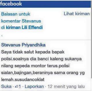 Buat Status Menghina Polisi Di FB, Pemuda Ini Dibekuk Polisi