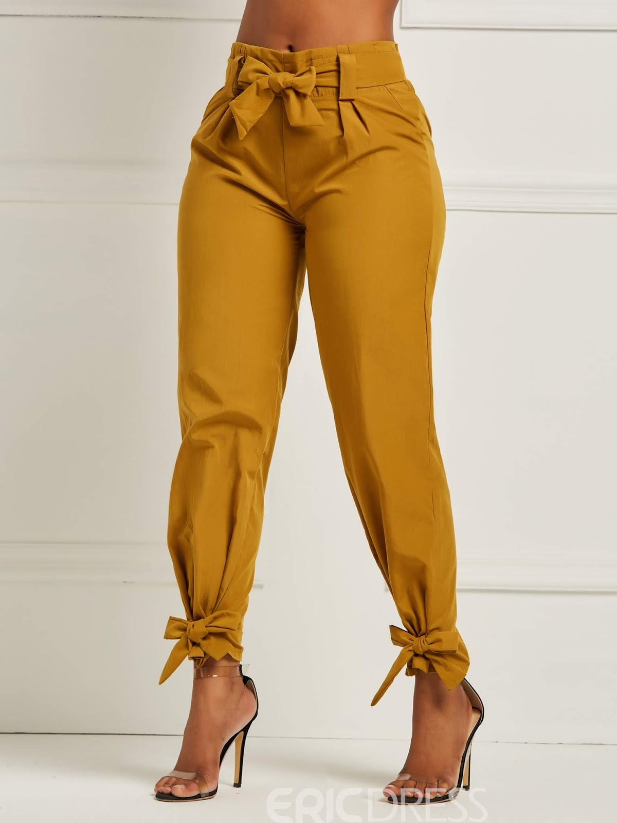 Ericdress Bowknot Plain Women's Pencil Pants