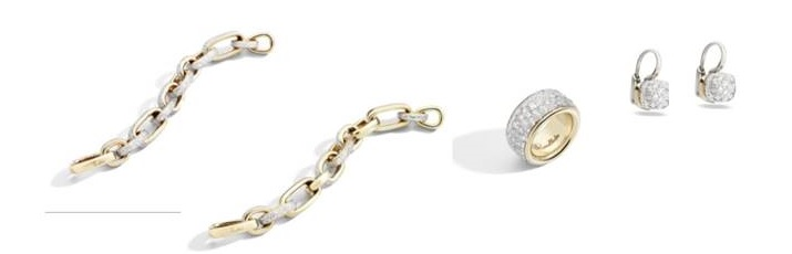 Pomellato Nudo earrings and Iconica ring and bracelets