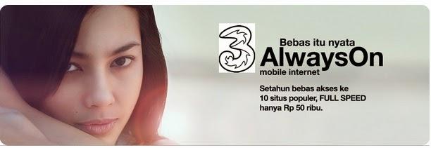Tri Always On (AON), Paket Internet 3 Paling Populer di Kalangan Netter