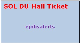 SOL DU Hall Ticket 2017