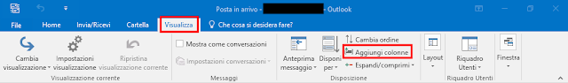 MS Outlook, Aggiungi colonne