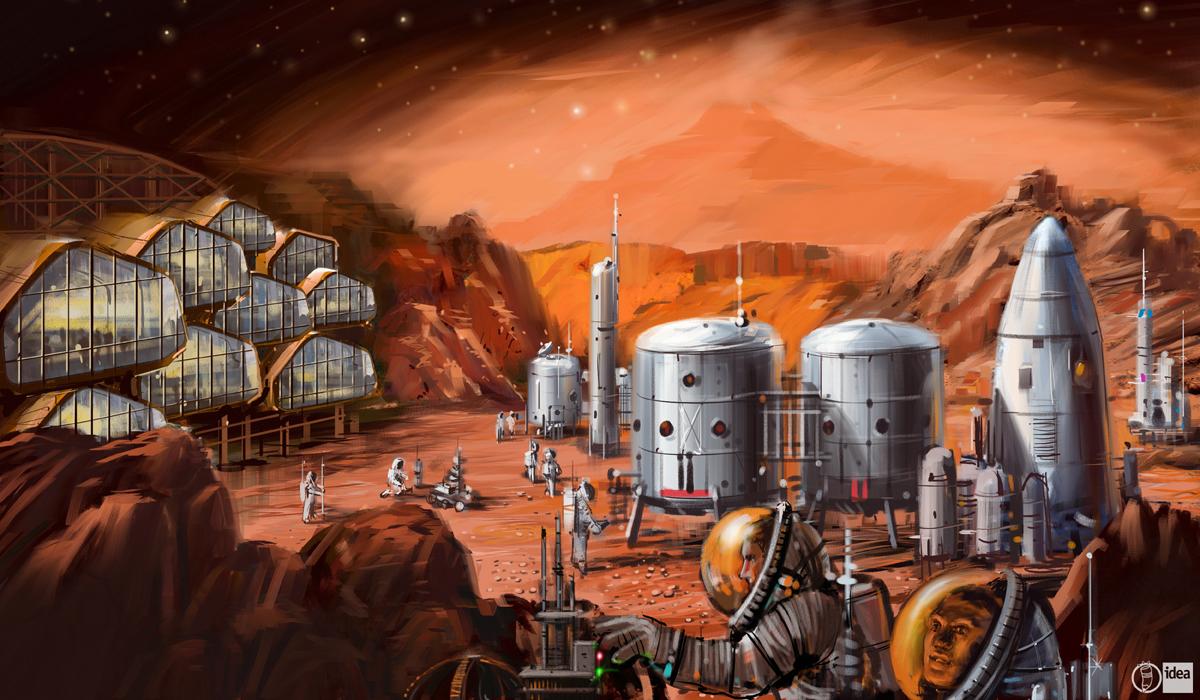 Interspace Mars colony