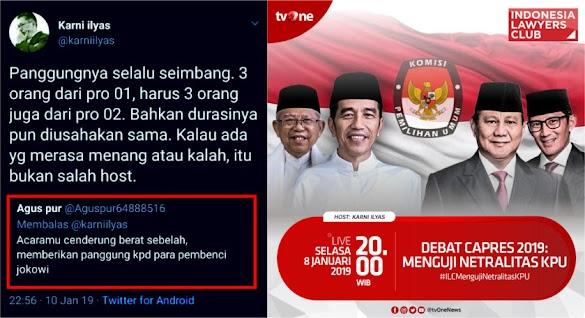 ILC Dituding Berat Sebelah, Karni Ilyas Beri Jawaban Telak Menohok!