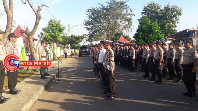 Amankan Pleno Rekapitulasi, 210 Personil Gabungan Disiagakan  di KPU Lampura