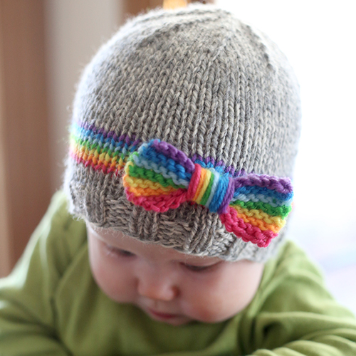 RainBOW Baby Hat Knitting Pattern