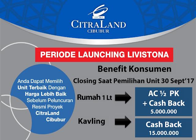 Promo Cluster Livistona Citraland Cibubur