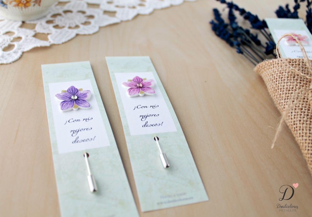 alfileres boda flores