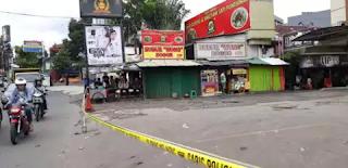 TKP Bimob tembak mahasiswa dipasangi police line