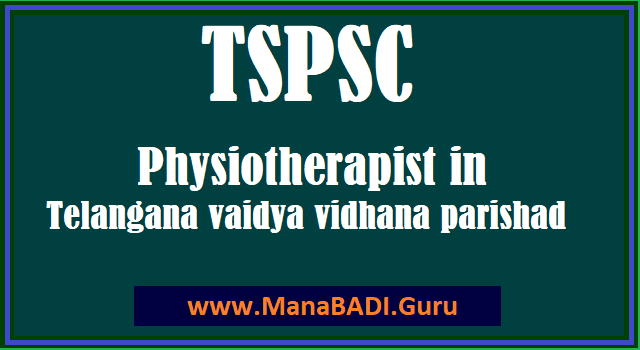 HM & FW Department, Physiotherapist, Telangana Vidya Vidhana Parishad, TS Jobs, TS Notifications, TS Recruitment, TSPSC