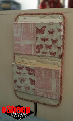 Spoonflower Fabric Wall Organizer crafted by eSheep Designs