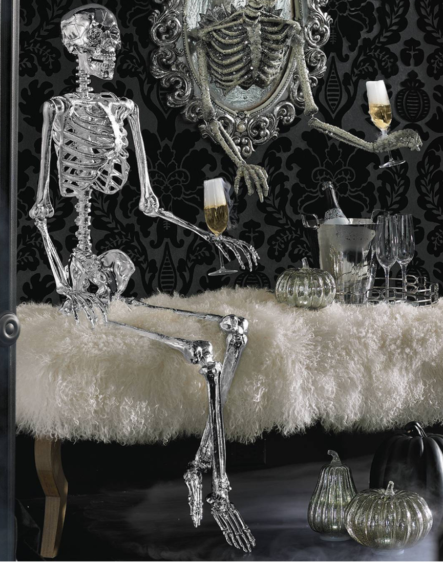 Grandin Road Chrome Skeleton