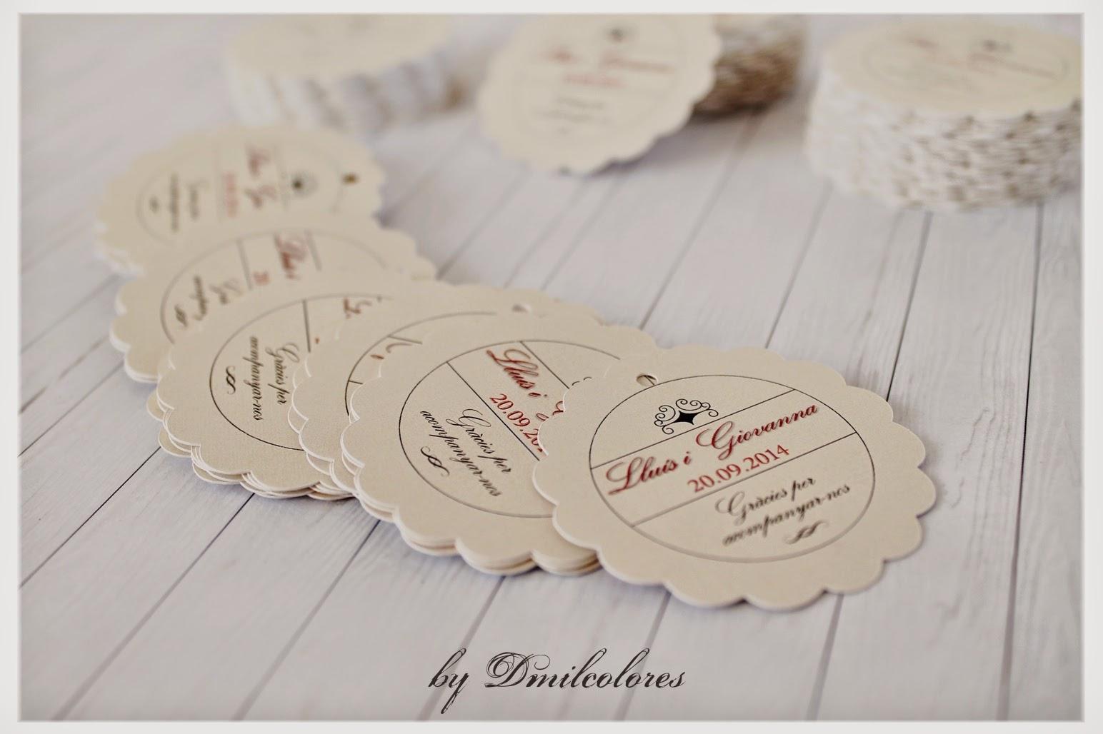 Etiquetas personalizadas de boda
