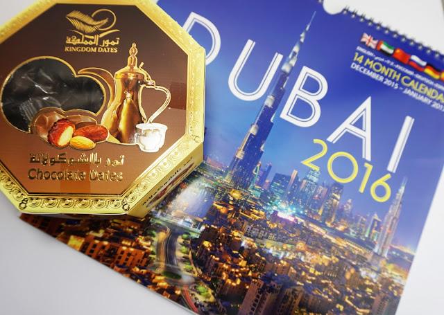 Souvenirs & Beauty-Haul aus DUBAI Kalender, Datteln