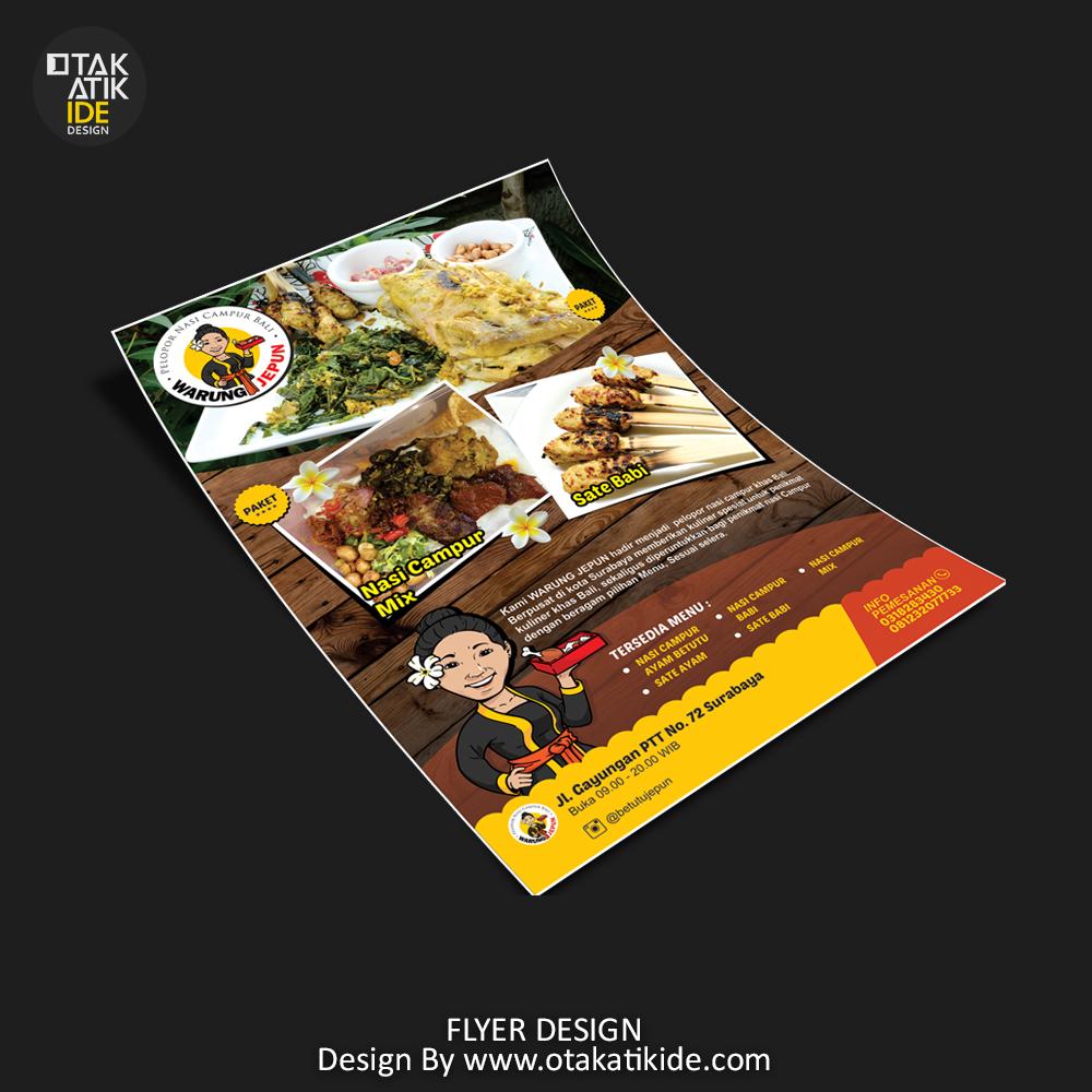 Jasa Desain Brosur Makanan Otakatikide Branding Design Consultant