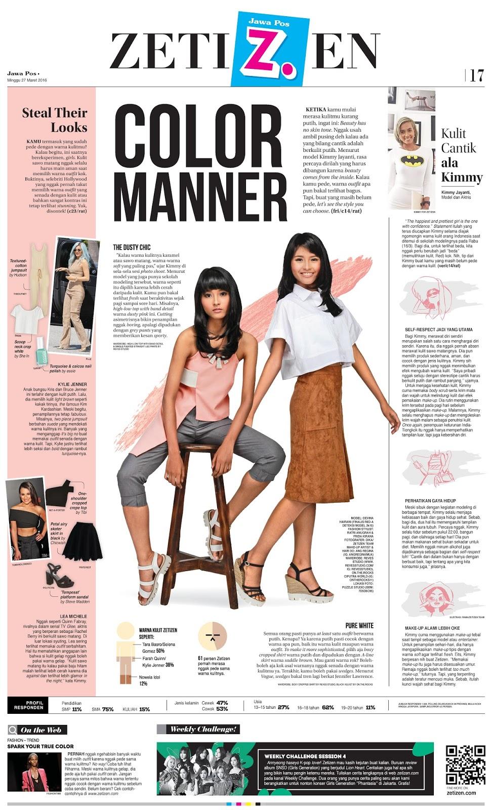 Fashion Stylist Zetizen Jawa Pos Reves Studio